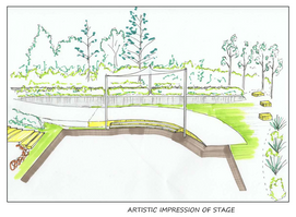 Concept Plan for Outdoor Community Space/ QSH grounds upgrade