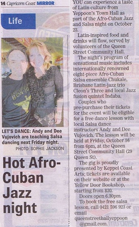 Free Salsa Class for couples with tickets to the Afro-Cuban Music night!!!