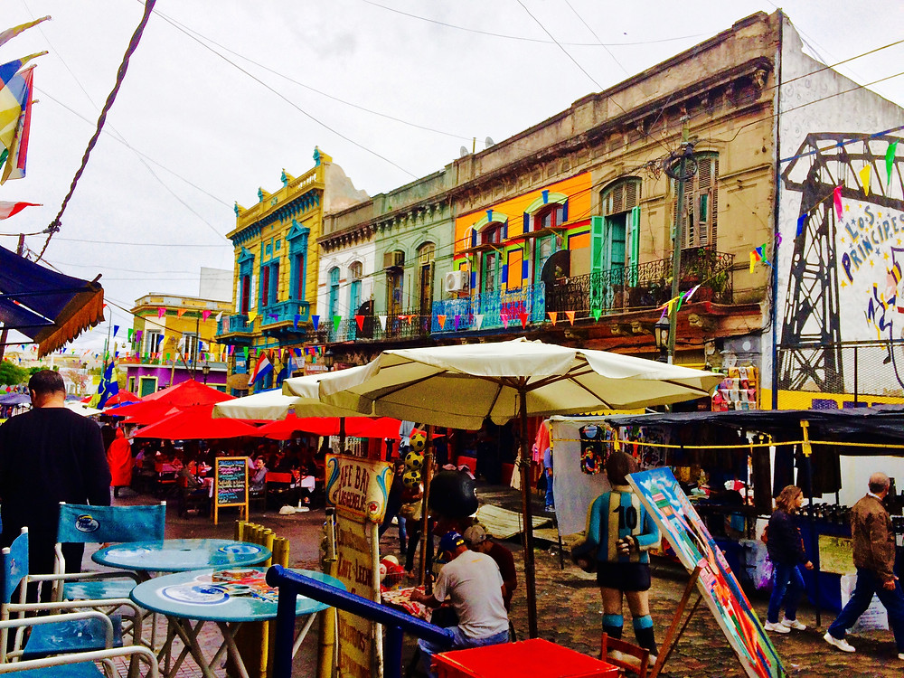 El Caminito goes all out with color