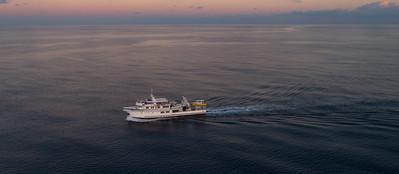 Crossing high seas.