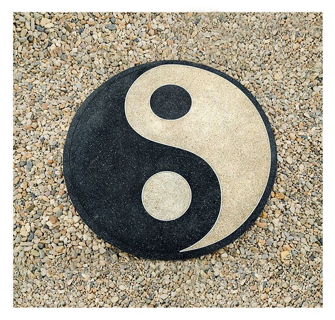 image of ying yang symbol on ground
