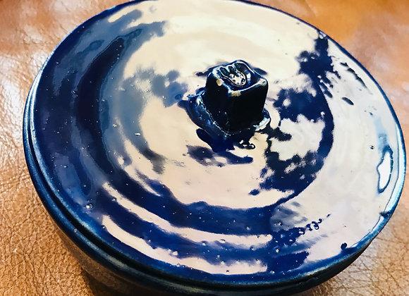 Cobalt blue pot Shaddai- Pot bleu cobalt Shaddaï
