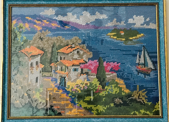 Village by the sea- Village au bord de mer