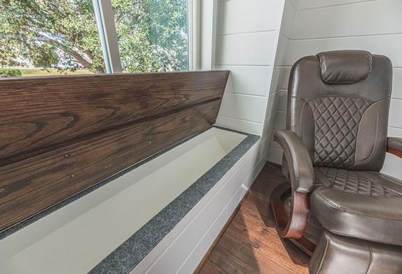 Storage bench open