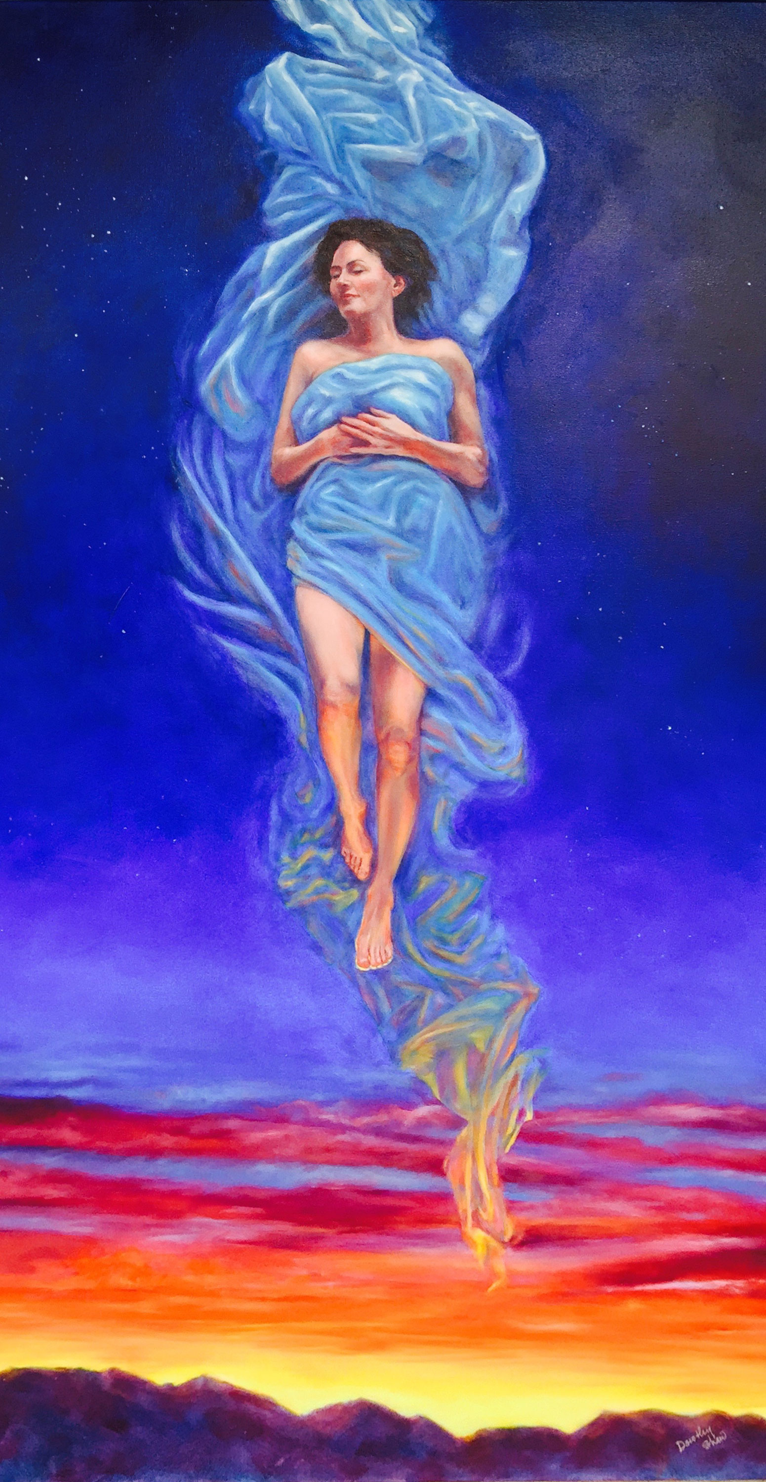 Skysleeper, Oil Painting 36x60