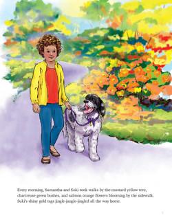 Suki and Sam go on long walks.