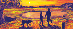 Kate and Grandpa at Sunset