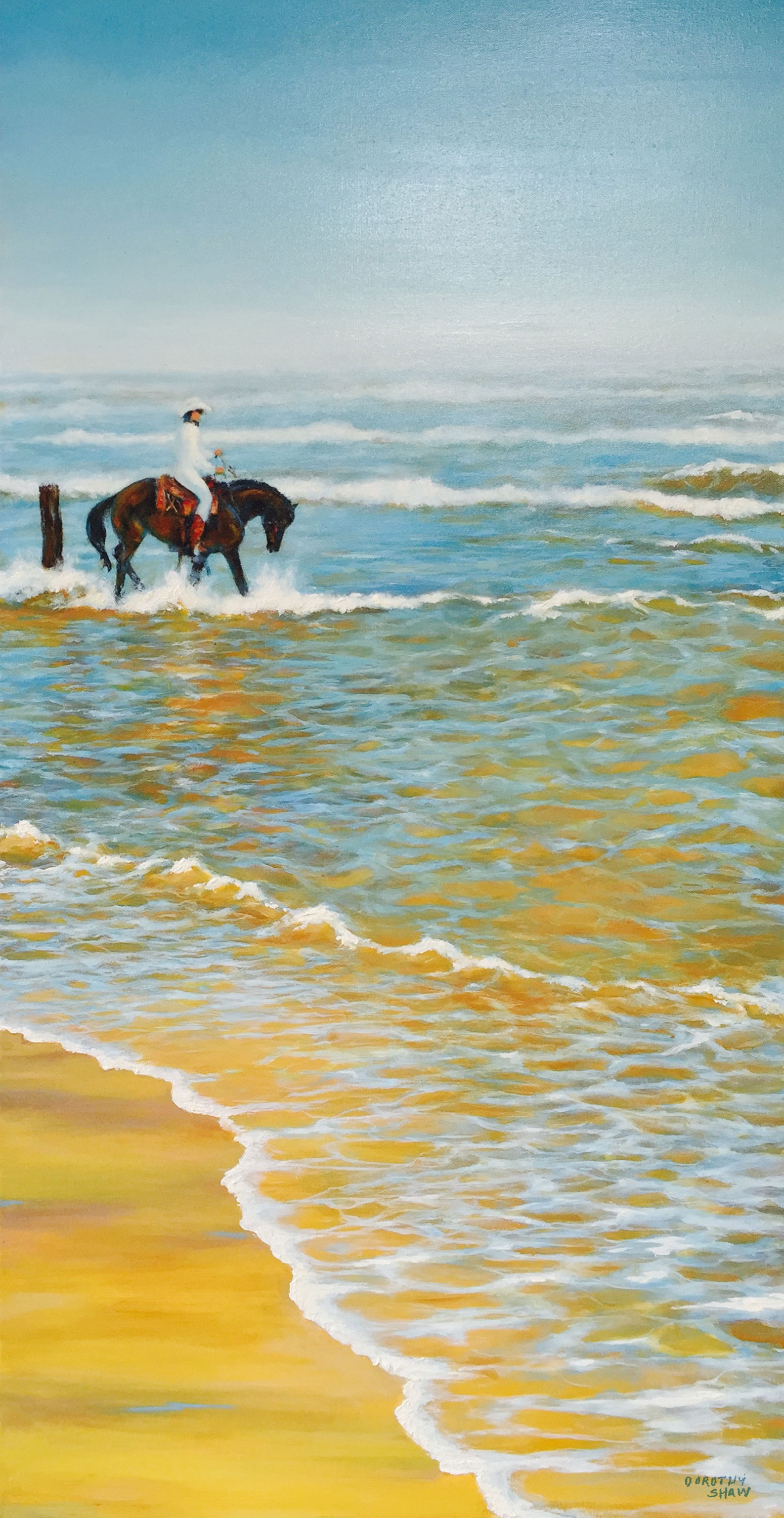 Salty Ringo, Oil Painting, 24x48