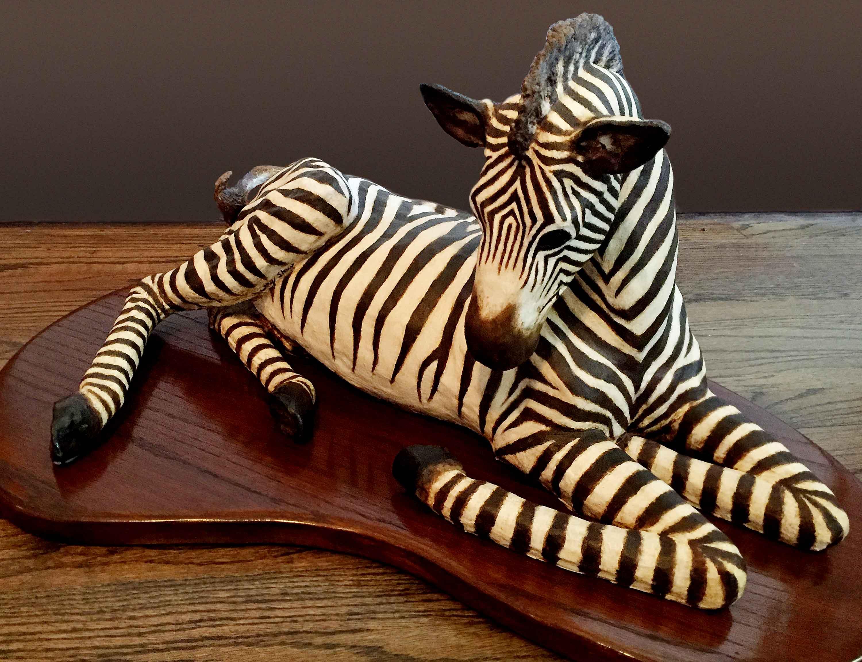 Zebra, Clay Sculpture