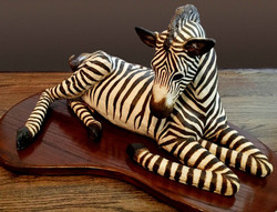 Zebra, Clay Sculpture