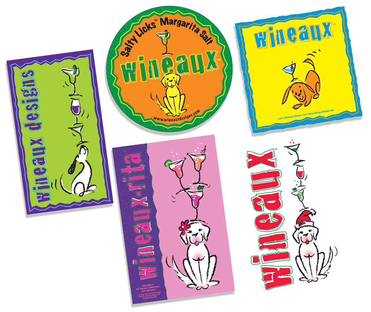 Wineaux, Illustrations, Design