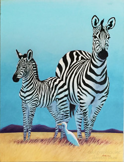 Zebra and Mom