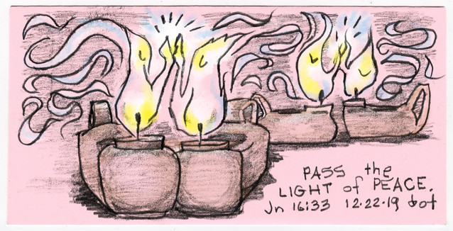 Candle 4, Pass the Light of Peace, 122219