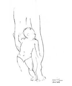 Grandson and Long-Legged Mama