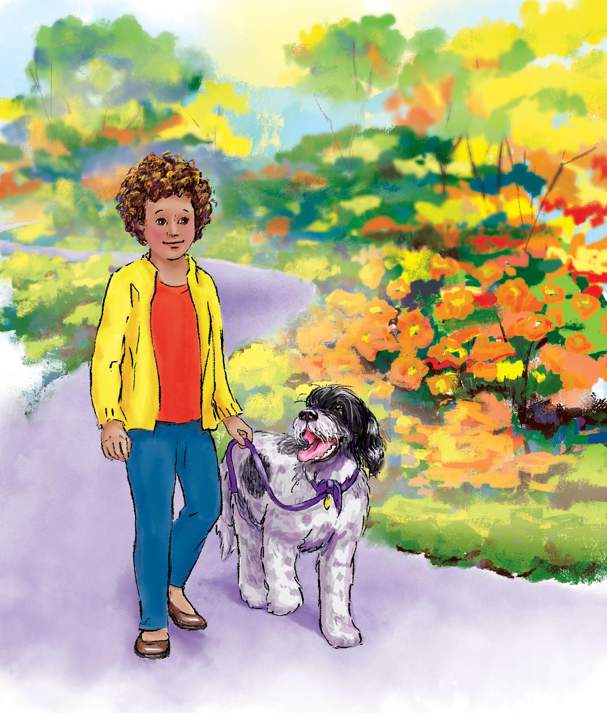 Sam and Suki Go for Walks