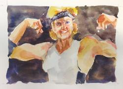 Julie is My Hero. Watercolor