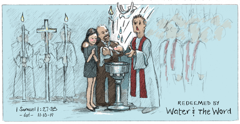 Offering Illustrations, Sam Baptized