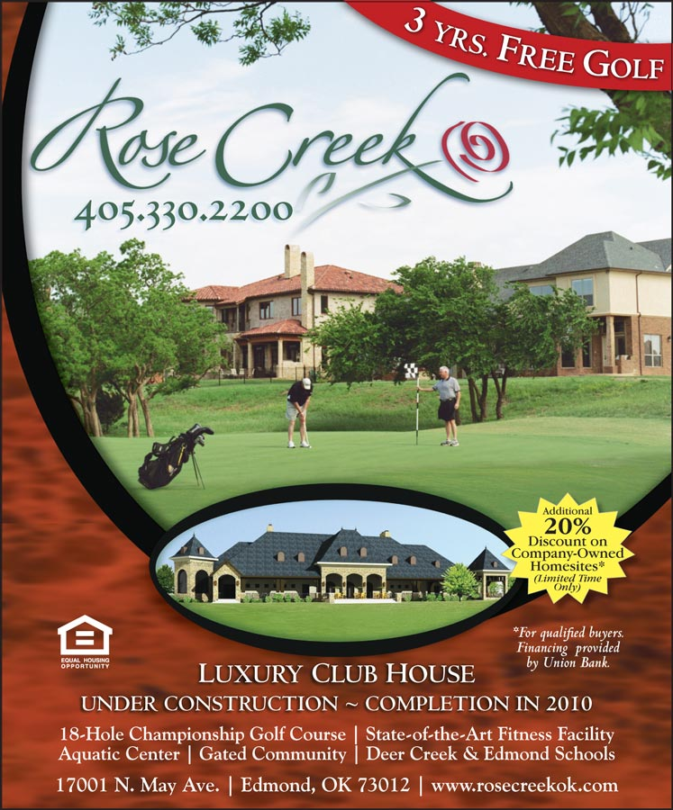 Rose Creek Golf Course Ad