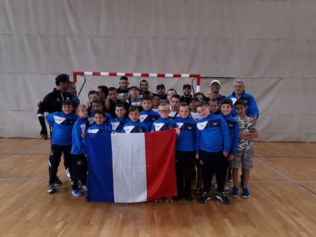 Nos U11 champions d'Europe. Les félicitations de Monsieur Philippe MICHEL-KLEISBAUER, Député  du Var