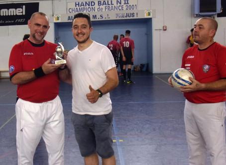 Jean Christophe Gomez honoré par l'Union Européenne de Futsal.
