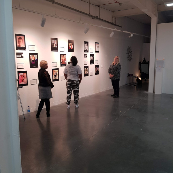 Keeley Burns, Jessica Plummer & Michelle McPhillips at the preview of The Wake-Up Room.  Way Out East Gallery - The University of East London, 12.03.2020.
