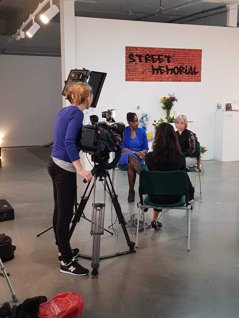 Ria Chaterjee Interviewing Keeley Burns & Cherie Nedd for ITV London news.