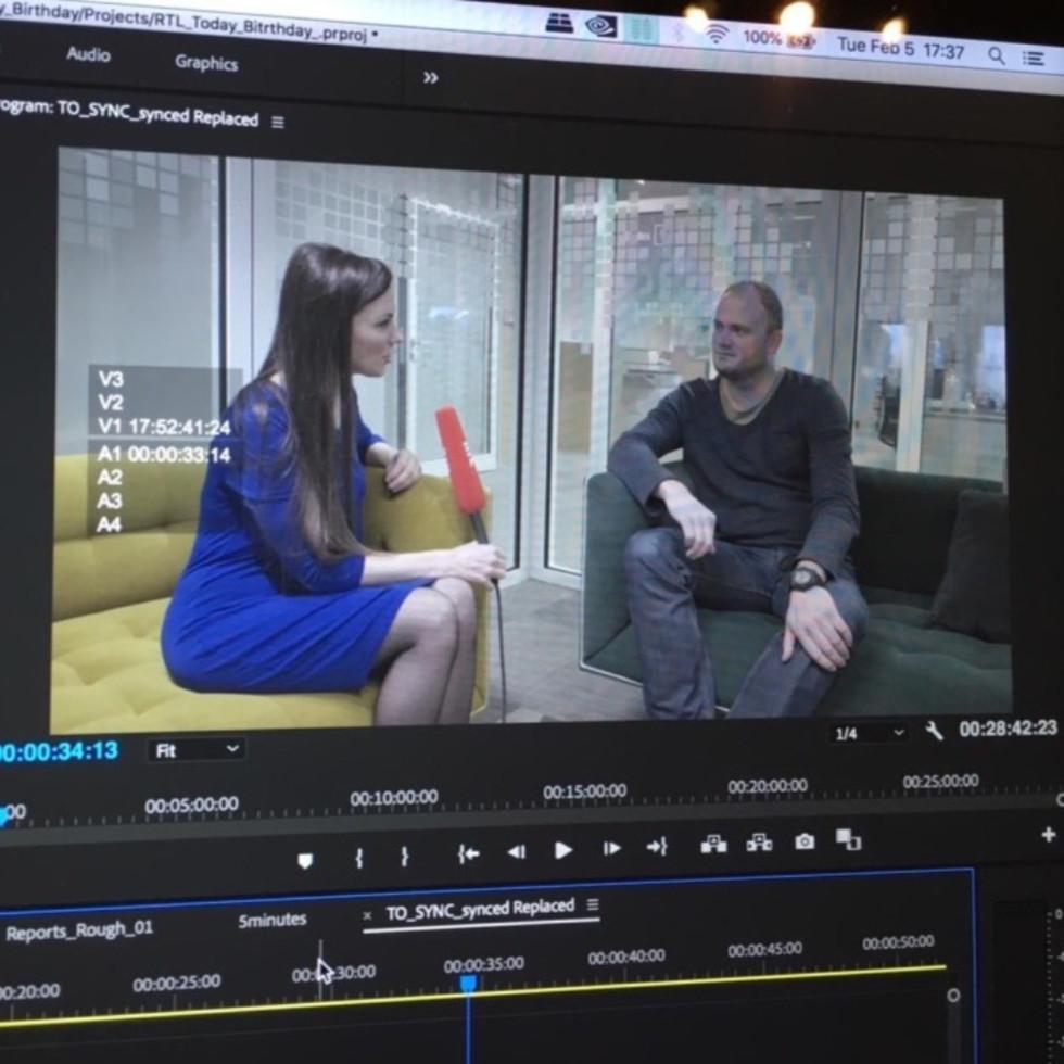 Lisa interviewing Tom Weber