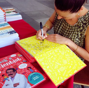 'Ask a Scientist' signing at Athenee, Luxembourg