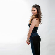 Lisa Toni Burke in jeans and