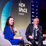 Lisa Toni Burke interviewing Director of European Space Agency