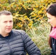Lisa Burke interviewing in Ireland