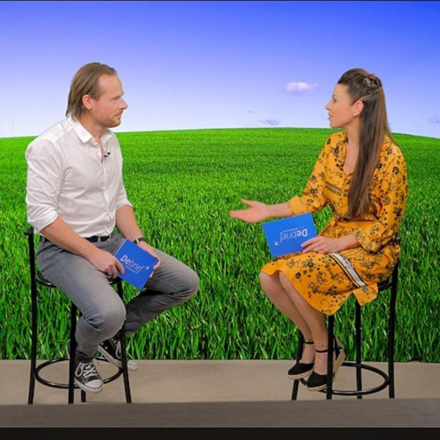 Lisa interviewing pilot