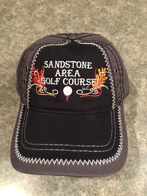Sandstone Area Golf Course Black and Grey Hat