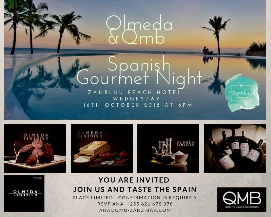 Gourmet night with Olmeda at Zanbluu October 2018