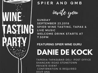 SPIER WINE TASTING PARTY, SEPTEMBER 2018