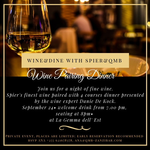 Wine@Dine with Spier and Qmb events at La Gemma Dell Est