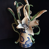 Fading flowers in Vase made in clay   350.00