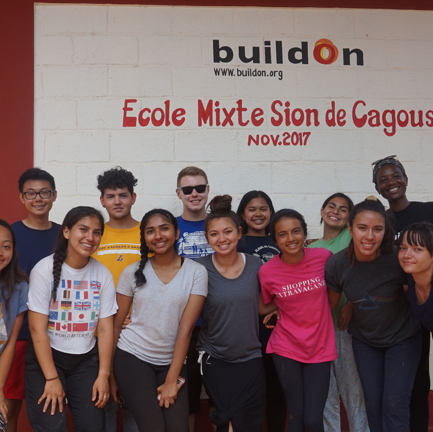 Finished Buildon school in a nearby town.
