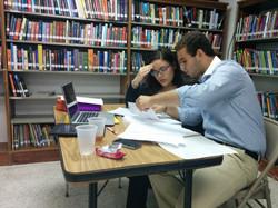 Marcelo y Diana en un prep time