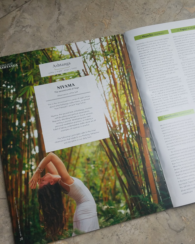 Yoga Journal Singapore: Niyama