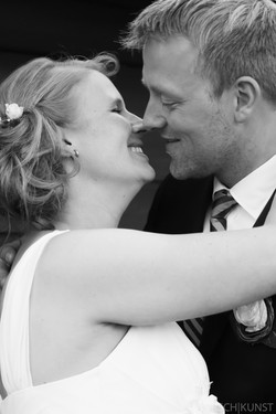 Küssendes Ehepaar