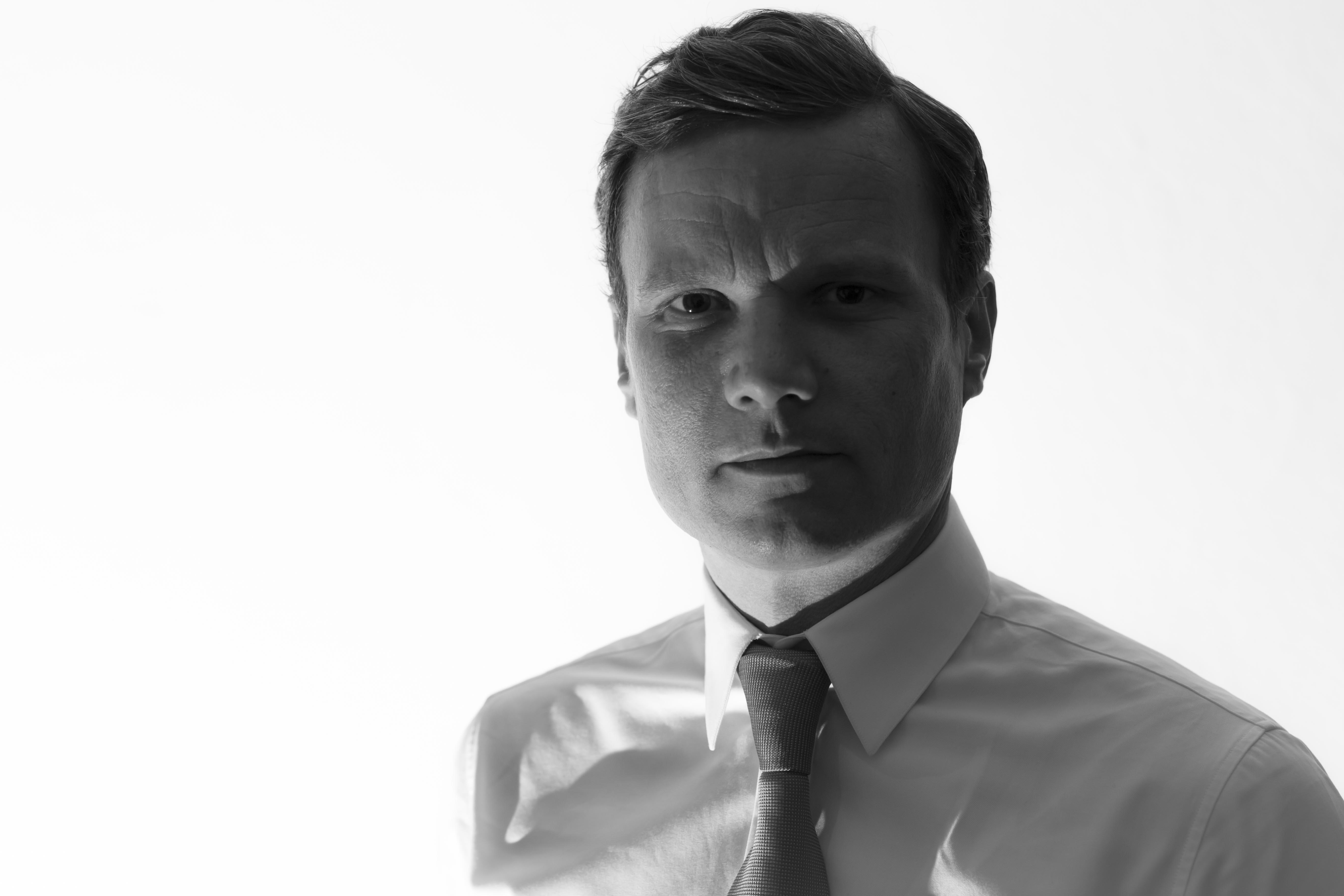 Schwarz/weiß Portrait