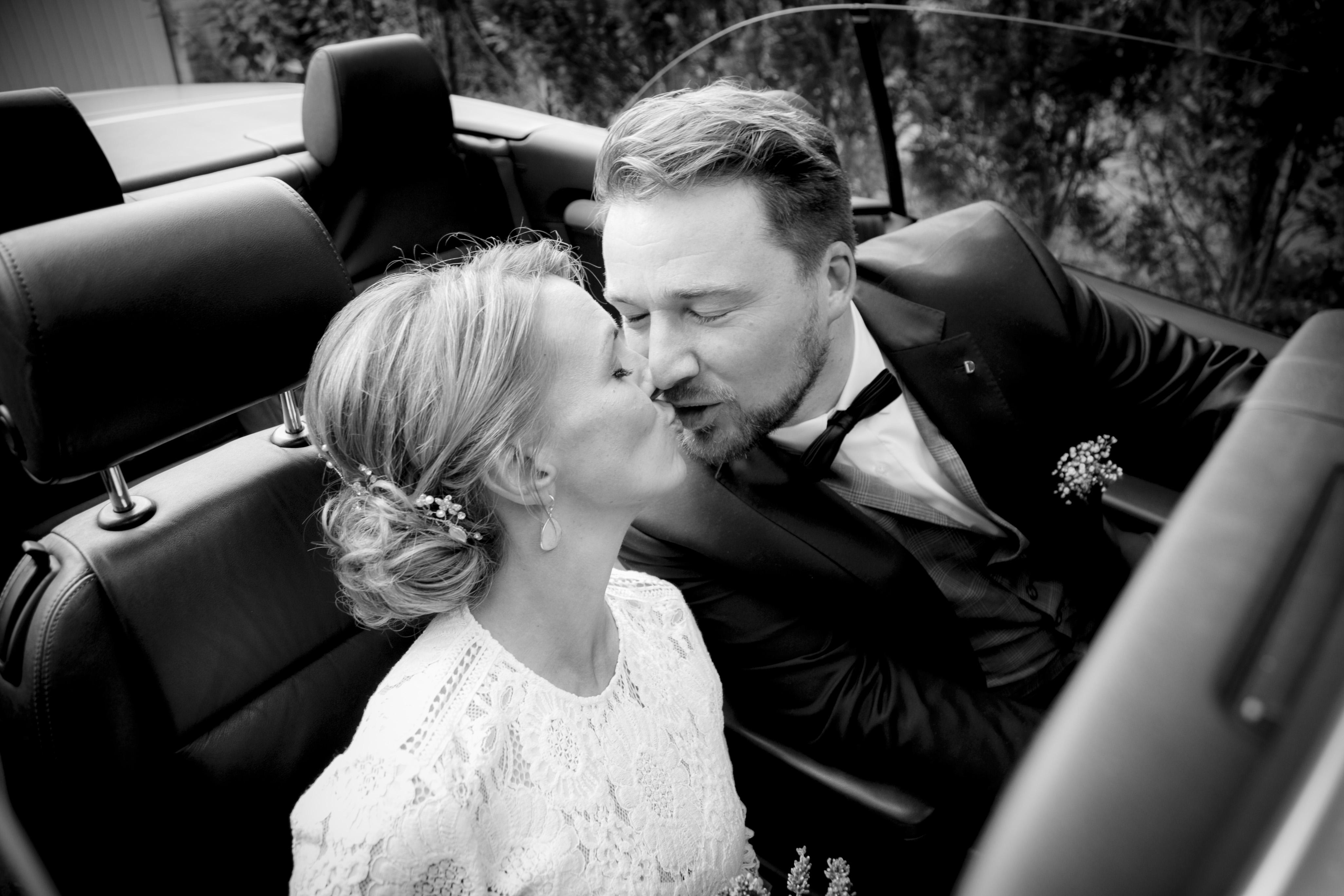 Hochzeitsauto Kiss