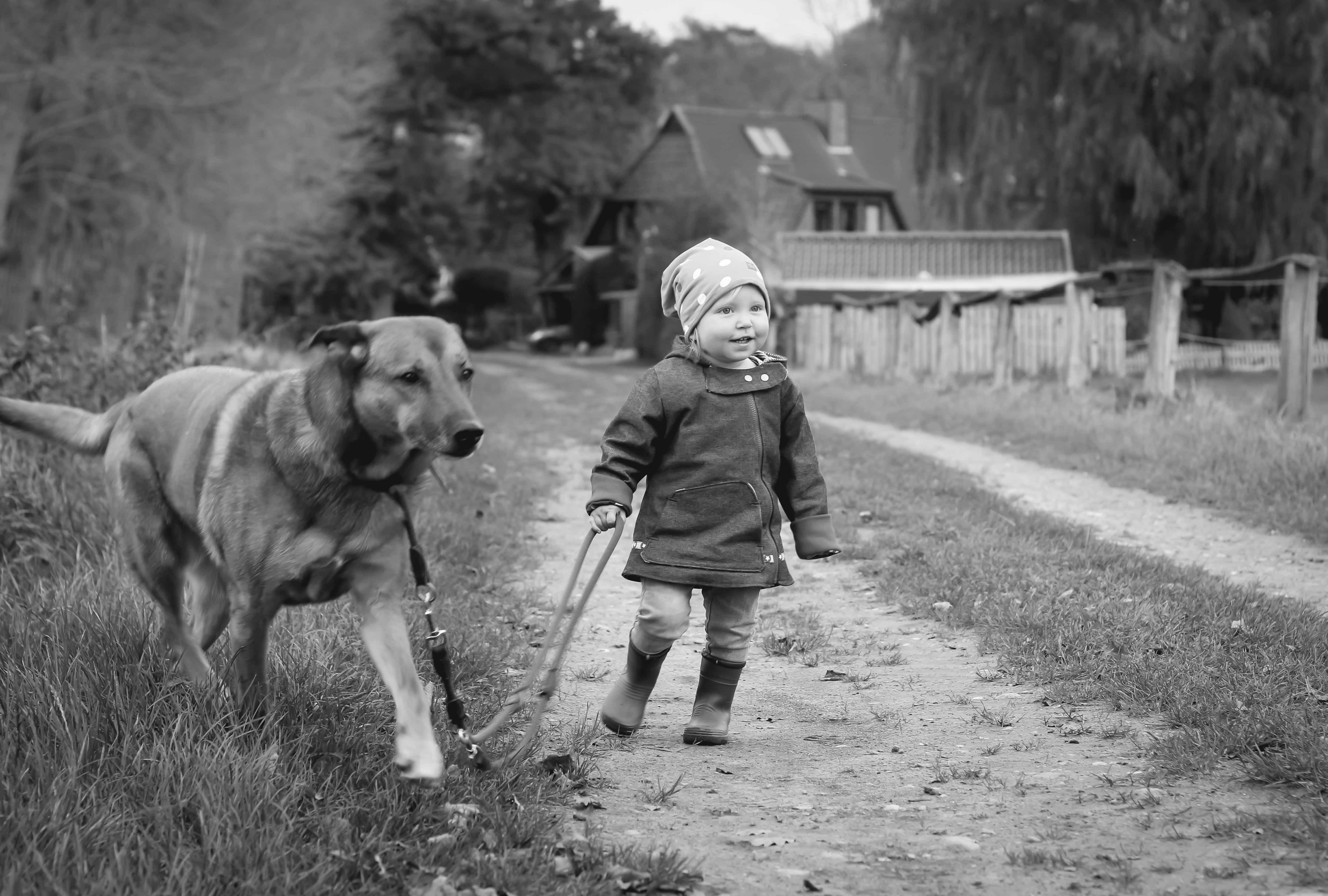 Kind mit Hund Porträt