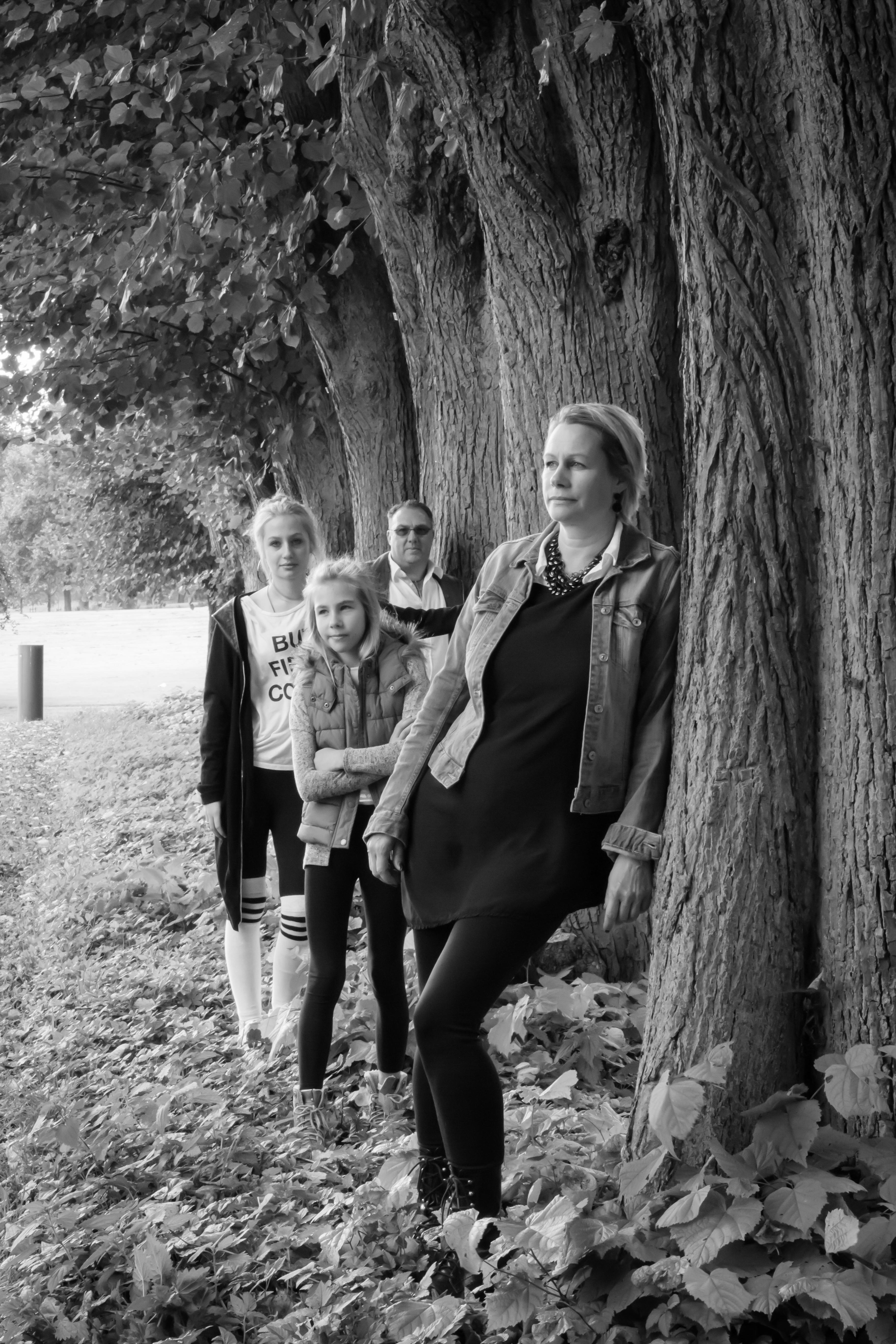 Familie am Wald