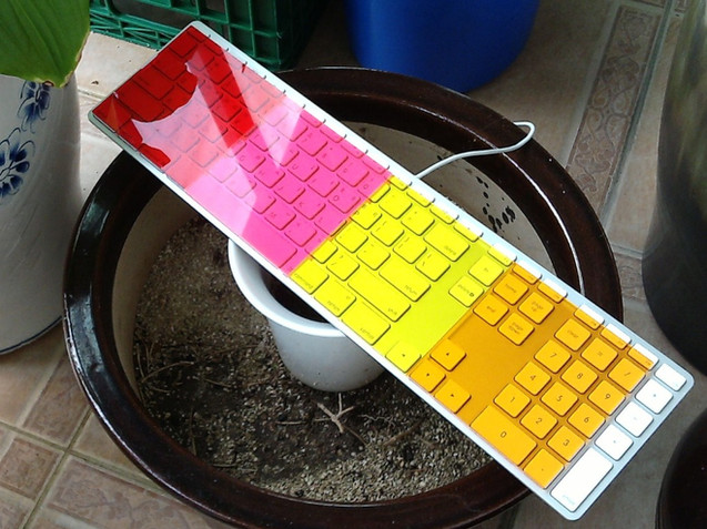 Acrylic Colors - Red Pink Yellow Orange