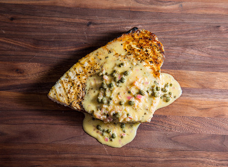 GRILLED SWORDFISH WITH LIME CAPER BUTTER SAUCE : GRILLIN WHILE CHILLIN