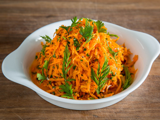 how to make CARROT AND PARSLEY SALAD