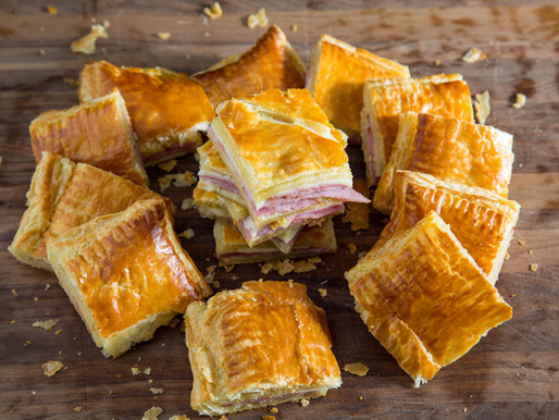 how to make HAM AND CHEESE IN PUFF PASTRY