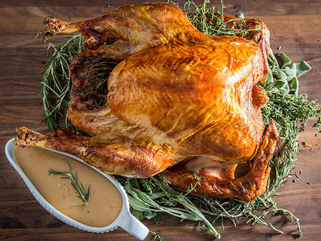 THE UPSIDE DOWN TURKEY WITH TURKEY STOCK GRAVY